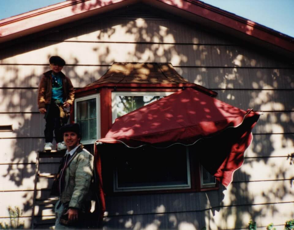 1992 Dad and I hangin awning copy